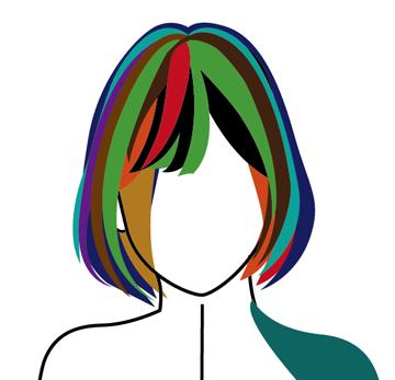 髪の毛作成